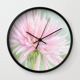 Pink Princess Dahlia Wall Clock
