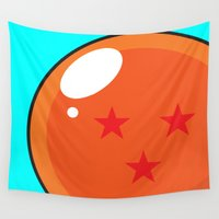 dragonball Wall Tapestries featuring Sacred Dragonball by Hussein Ibrahim