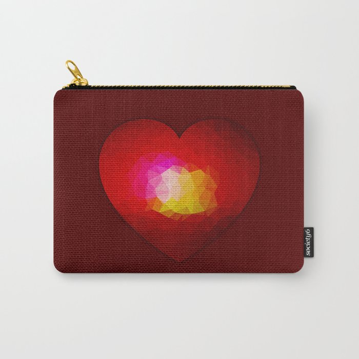 Red geometric burning heart Carry-All Pouch