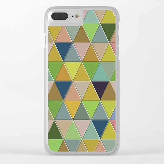 Abstract #242 Clear iPhone Case