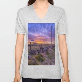 West Lomond Sunset Sky Unisex V-Neck