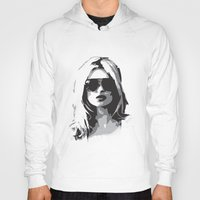 kate moss Hoodies featuring Kate Moss by Joanna Theresa Heart