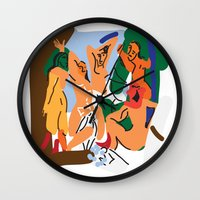 picasso Wall Clocks featuring Picasso by John Sailor