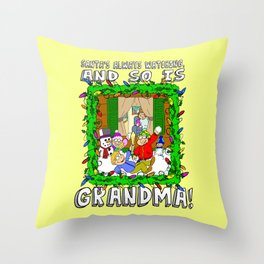 Christmas  |  Santa  |  Grandma Throw Pillow