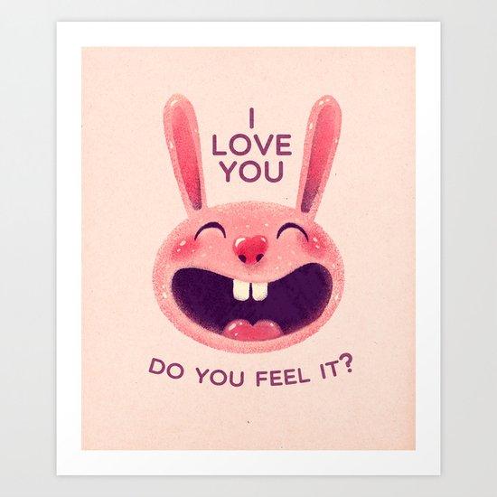 Bunny with love Art Print