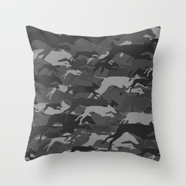 WEIMOUFLAGE GREY Throw Pillow