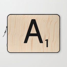 Letter A Scrabble Art Laptop Sleeve