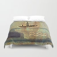 boat Duvet Covers featuring Boat by Menchulica