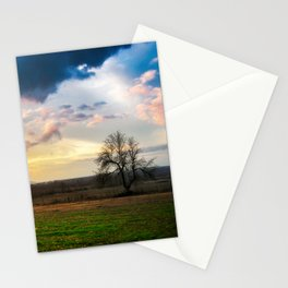 A lonely tree in the field Stationery Cards
