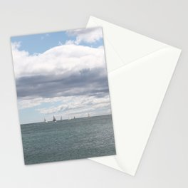 Sailboats on the Sea Stationery Cards