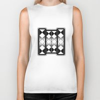 triangles Biker Tanks featuring Triangles by VanessaGF