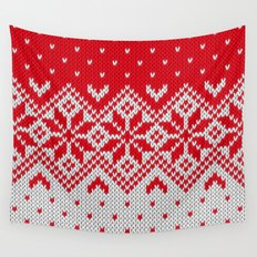 Winter knitted pattern 10 Wall Tapestry