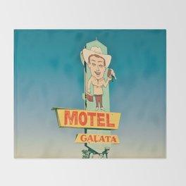 Motel Galata Throw Blanket