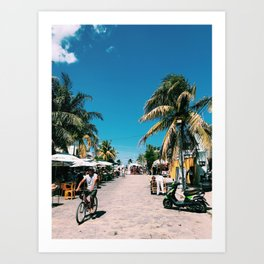 Progresso Mexico Art Print