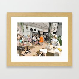 Coracle Cafe Framed Art Print