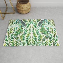 Kelp Forest Mermaid – Green Palette Rug