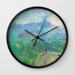 Legend of Zelda Breath of the Wild Intro Impressionist Painting Wall Clock