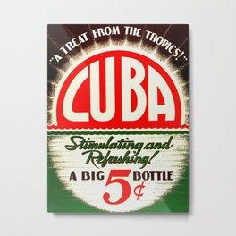Vintage Cuba Soft Drink Poster Metal Print