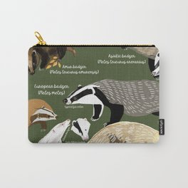 Badgers Meles Genus Poster Carry-All Pouch
