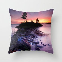 Separation Point Throw Pillow