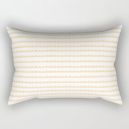 Yellow Scallop Rectangular Pillow