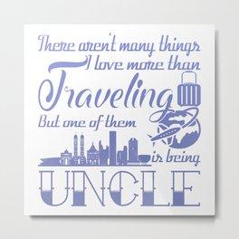 Traveling Uncle Metal Print