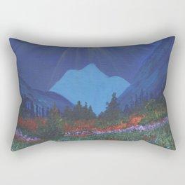 Forest Sunset Over Blue Mountains Rectangular Pillow