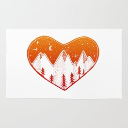 Heart In The Mountains - Warm Palette Rug