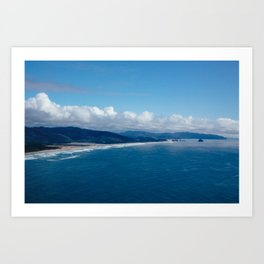 View from Cape Lookout Art Print