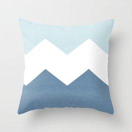 BLUE BLOCK CHEVRON Throw Pillow