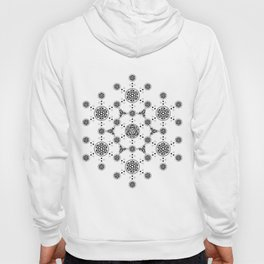 molecule. alien crop circle. flower of life and celtic patterns Hoody