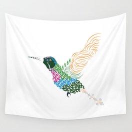 Abstract Hummingbird ~ Garnet-throated Variant Wall Tapestry