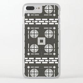 Mediterranean Pattern 10 - Tile Pattern Designs - Geometric - Grey - Ceramic Tile - Surface Pattern Clear iPhone Case
