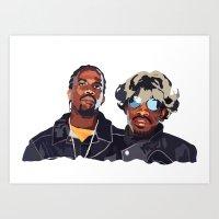 outkast Art Prints featuring DeepMatter's favourite Hip Hop collectives - Outkast by DeepMatter