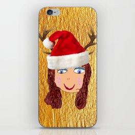 Gold Christmas   Kids Painting   Christmas Spirit iPhone Skin