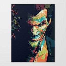 Joker Pop Art Portrait Canvas Print
