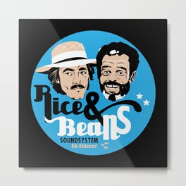 Rice & Beans Sound Poster Metal Print