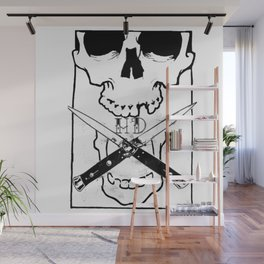 Switchblade Skull Wall Mural
