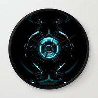 tron Wall Clocks featuring Tron  by Electra