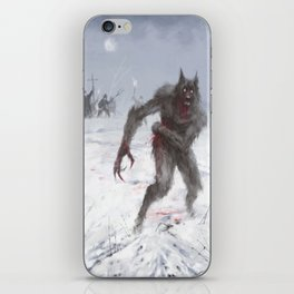 Wounded Wolf iPhone Skin