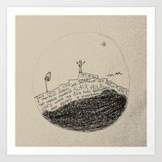 doodle - found a mushroom Art Print