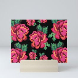 Romanian traditional pattern Mini Art Print
