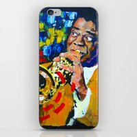 louis armstrong iPhone & iPod Skins featuring Louis Armstrong by Phil Fung