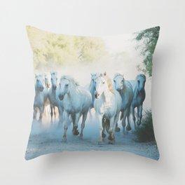 Camargue Horses ... Throw Pillow