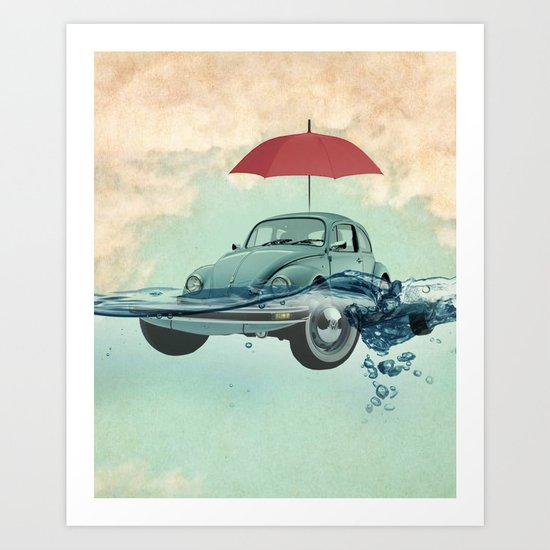 Chance of rain in deep water Art Print