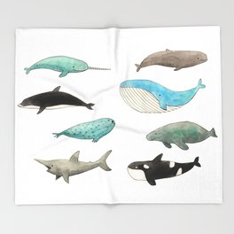 Marine animals Throw Blanket