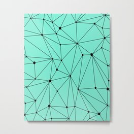 Geometric Mint Metal Print