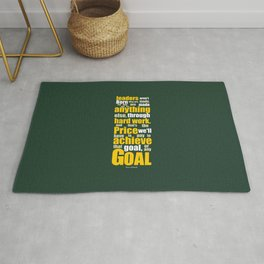 Lab No. 4 - Vince Lombardi Sport Inspirational Quotes Typography Poster Rug