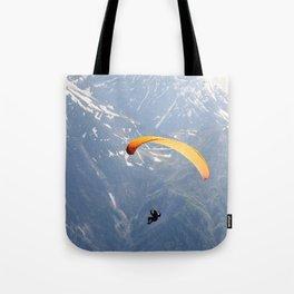Parachute in Chamonix Tote Bag