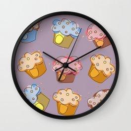 Muffins - pattern Wall Clock